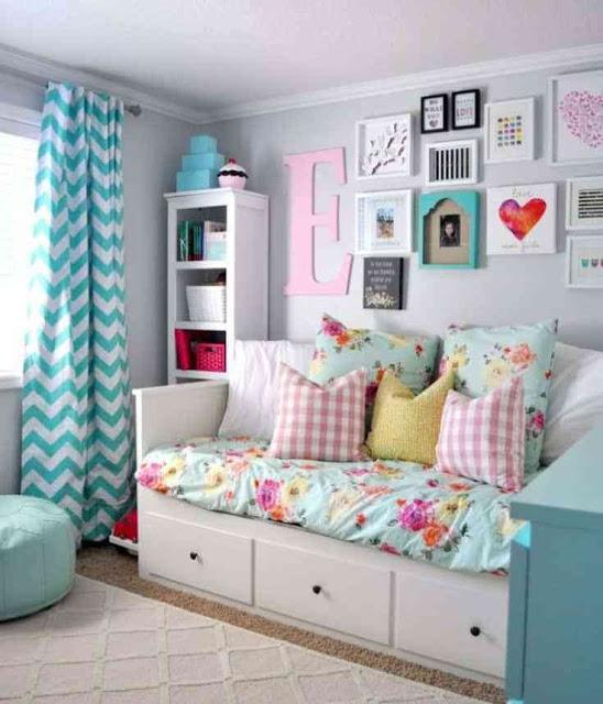 غرف نوم بنات فيروزية