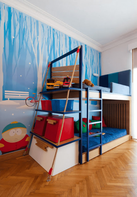 غرفة أولاد بسرير طبقي