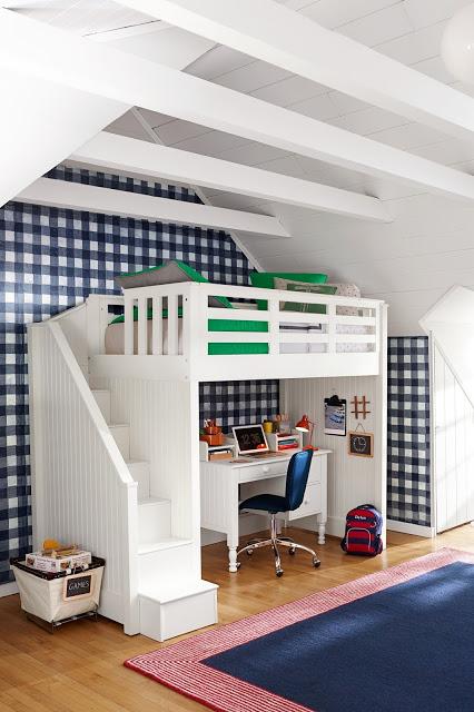 غرف نوم أولاد بسرير طابقين