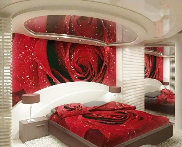 ديكور جبس غرف نوم رومانسية للعرسان