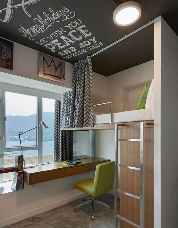 تصاميم غرف نوم شباب صغيرة