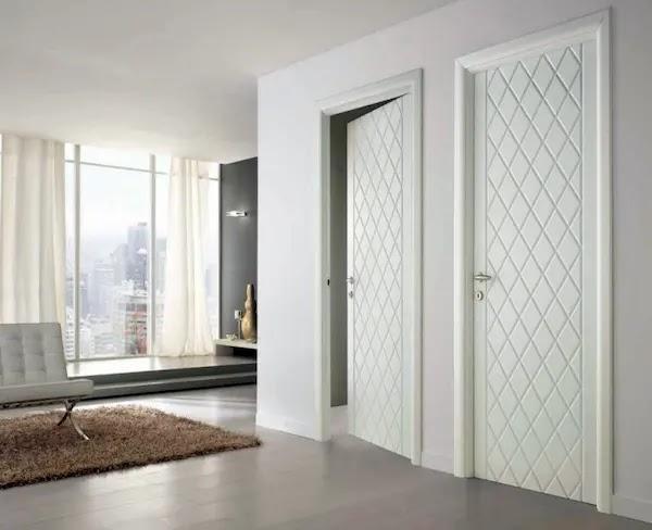 اشكال أبواب خشب داخلية أبيض 2020