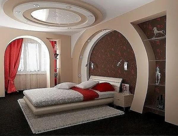 ديكور جبس غرف نوم للعرسان 2020