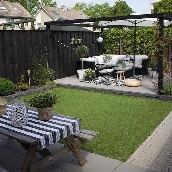 أفكار حدائق بسيطة