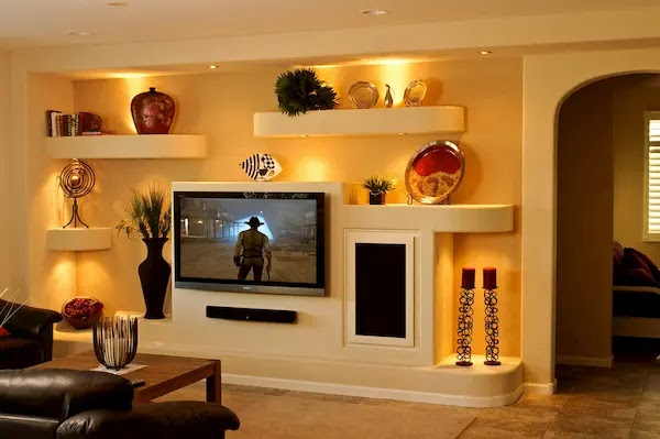 ديكورات جبس لشاشة التلفزيون