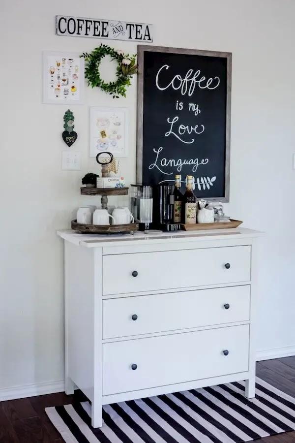 ركن قهوة منزلي