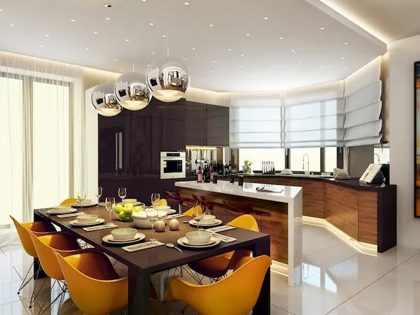 ديكور سقف مطبخ 2020