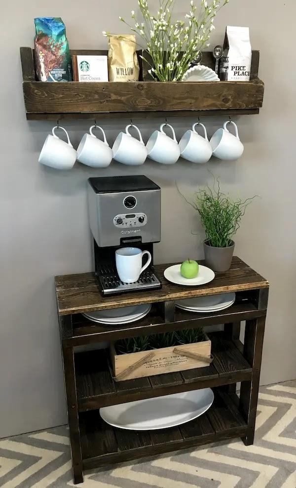 تصميم ركن قهوة بسيط