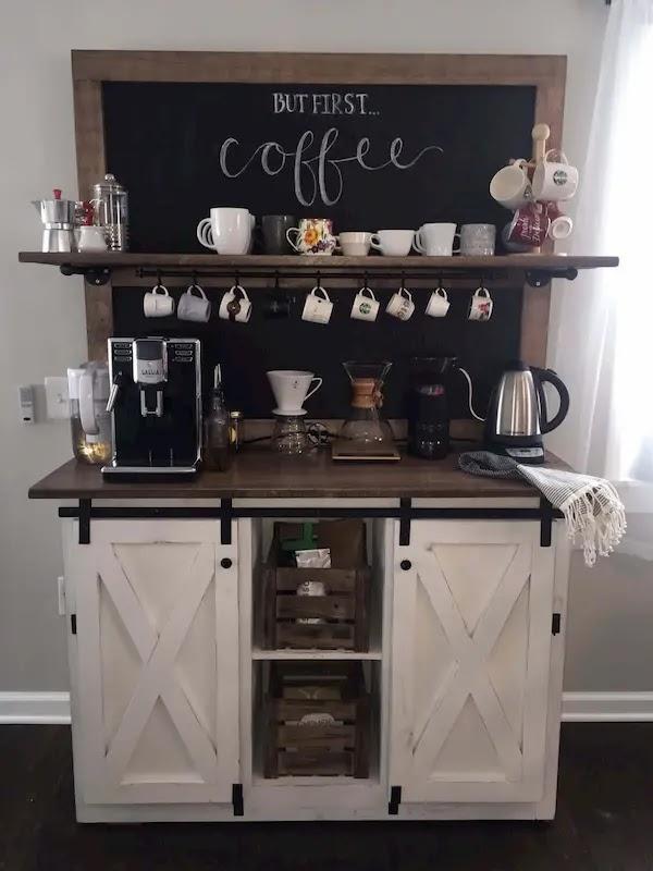 ركن القهوة في المنزل