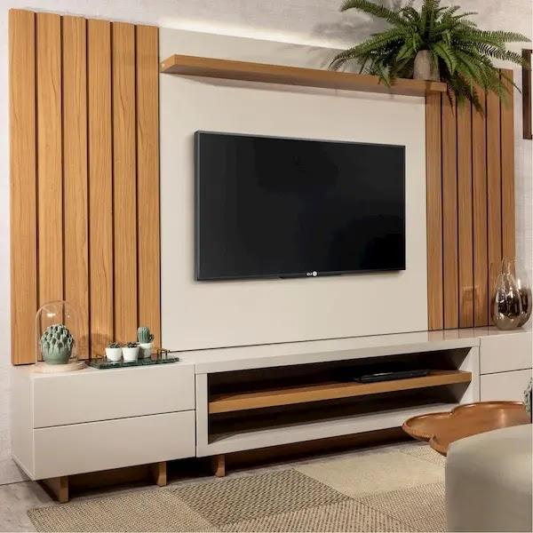 ديكور تلفزيون خشب 2020