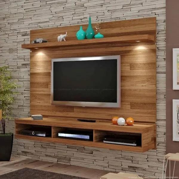 ديكورات خشبية للتلفزيون
