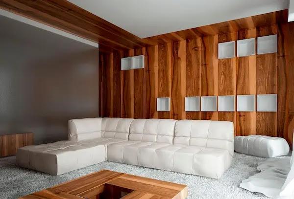 جدران خشب ديكور
