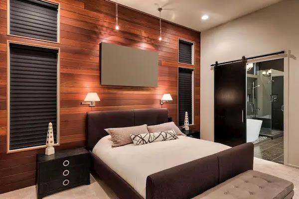 ديكورات خشبية على الجدران