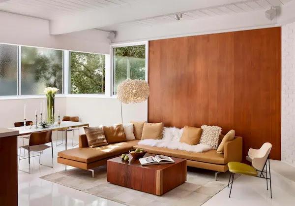 ديكور حائط خشب