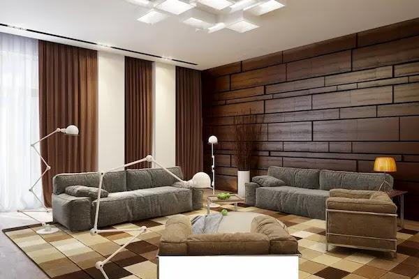 ديكورات خشب للحوائط