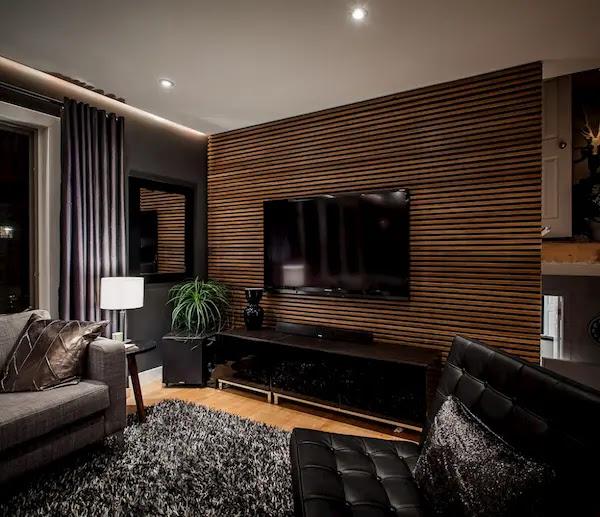 ديكورات شاشات خشبية بسيطة