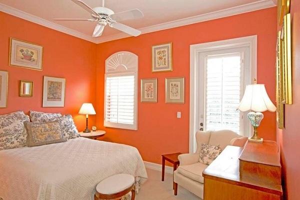 ألوان دهانات غرف نوم برتقالي رومانسيه (4)