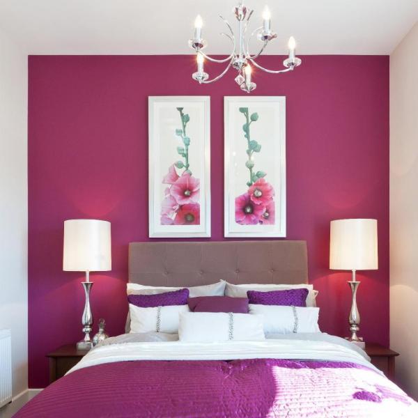 ألوان دهانات غرف نوم فوشيا رومانسيه (6)