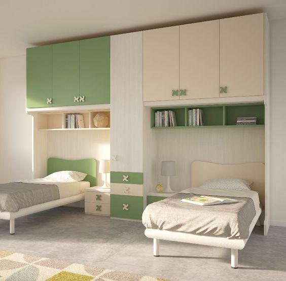 غرف نوم اطفال بسريرين ودولاب كلاسيك