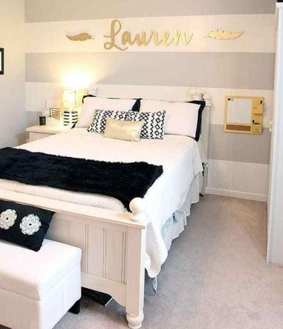 غرف نوم بنات كبيرات سوداء و بيضاء