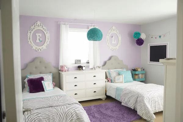 غرف نوم بنات بسيطة 2021