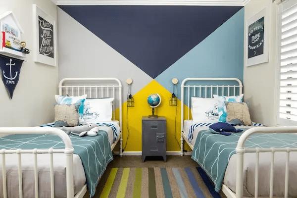 تصاميم غرف نوم اولاد بسيطة