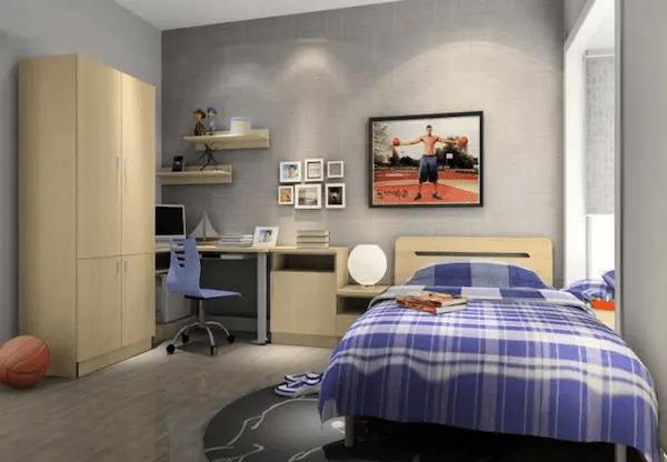 تصاميم غرف نوم شباب بسيطة
