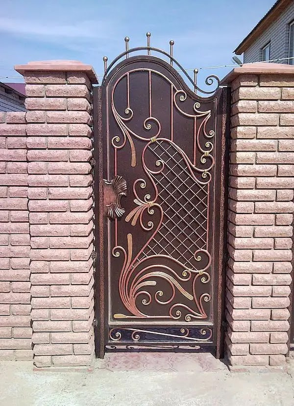 تصاميم ابواب حديد خارجية