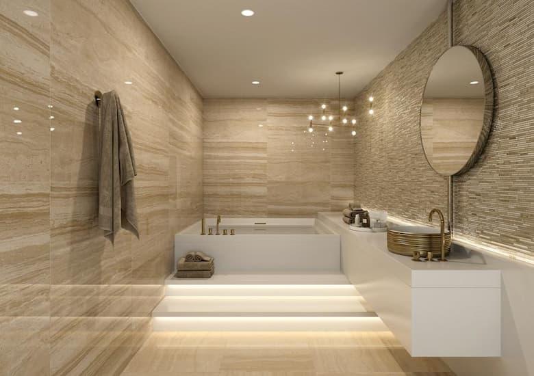 حمامات رخام بيج
