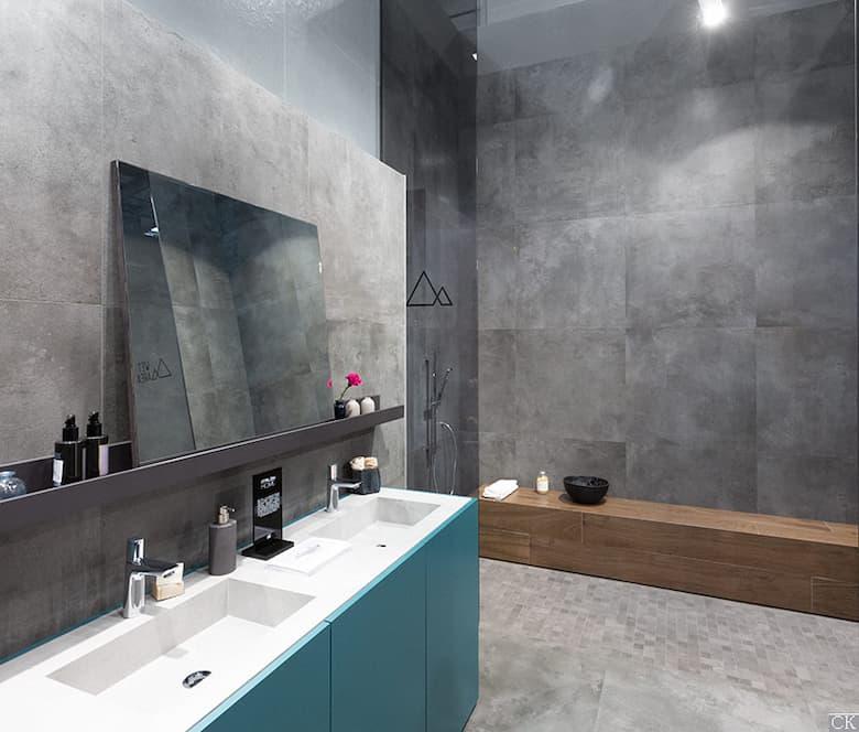 حمامات رخام رمادي